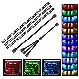 PC RGB LED Speclux PC Innenbeleuchtung RGB LED Strip Motherboard-Steuerung, 12V 4-Pin-RGB, Kompatibel mit Asus Aura, Asrock RGB-Led, Gigabyte-RGB-Fusion, MSI Mystic Light, 30cm